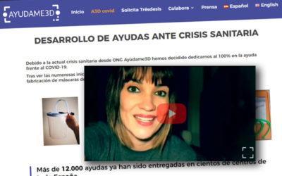 Ayúdame3D y la Fundación Irene Villa elaboran pantallas de prevención del Covid19